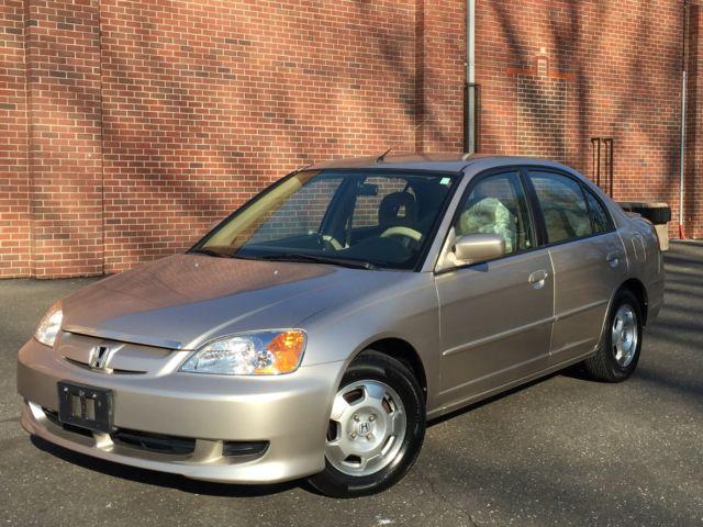 Honda Civic Hybrid 5 Sd Manual Transmission Cold A C Runs 100 Must