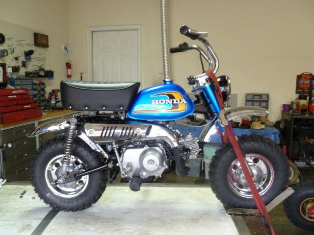 Honda Z70 Candy Blue Z50 Big Wheel Mini Trail Fully