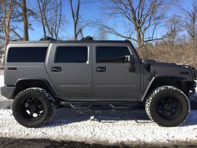 Hummer H2 3m Matte Grey Metallic Lifted Nittos