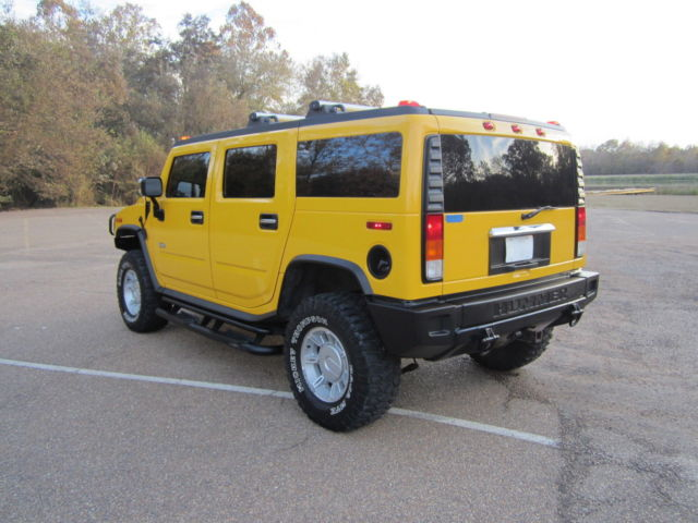 hummer h2 4wd 4 door suv yellow leather 6 0 chevy gmc. Black Bedroom Furniture Sets. Home Design Ideas
