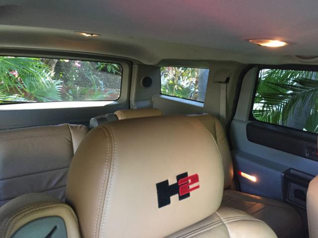 Hummer H2 Matt Black Custom Interior Tan Leather Custom Rims Tinted
