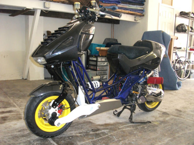 italjet dragster 180cc scooter heavily modified