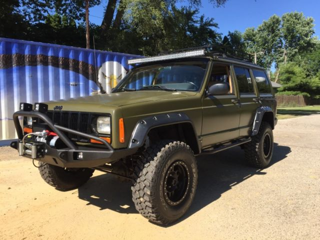 Jeep Cherokee Lifted Expedition Style Xj X Winch Bumper Tires Etc on 1998 Jeep Cherokee Automatic Transmission