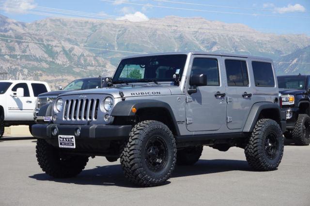 jeep rubicon 4 door hardtop custom new lift wheels tires auto tow low miles. Black Bedroom Furniture Sets. Home Design Ideas