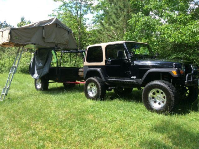 jeep wrangler ls1 v8 4x4 trailer camper hard top. Black Bedroom Furniture Sets. Home Design Ideas