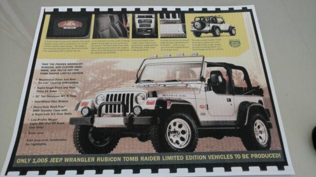 Jeep Wrangler Rubicon Tomb Raider Limited Edition