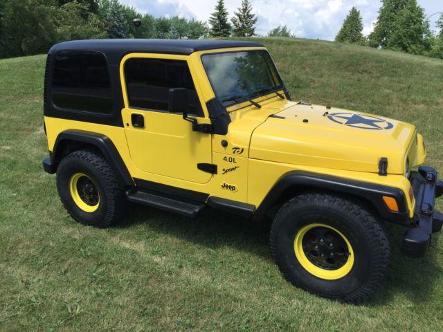 Jeep Wrangler Tj Yellow