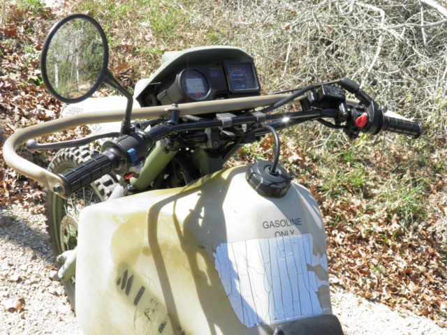 Kawasaki 2000 Klr650 Iraq War Us Marine M1030 Motorcycle Gasoline