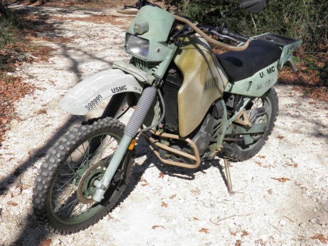 Kawasaki 2000 KLR650 Iraq War US Marine M1030 Motorcycle ...