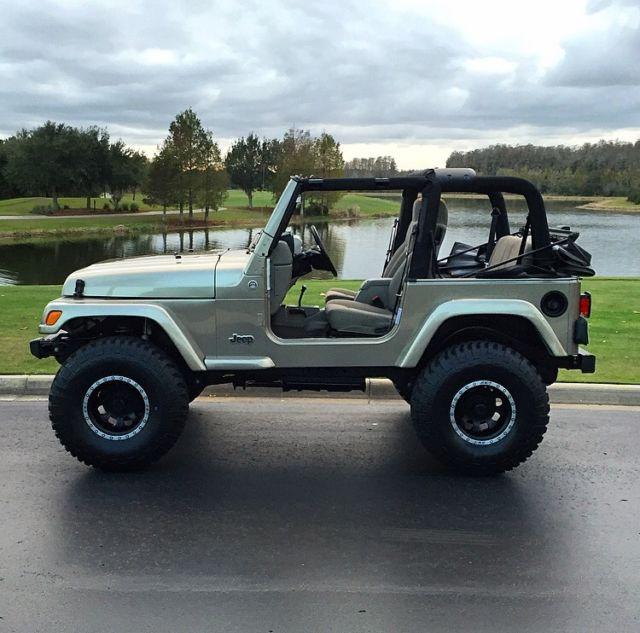 Jeep Wrangler Unlimited Rubicon Orlando >> KHAKI SOFT TOP AUTOMATIC SUSPENSION LIFT SPORT RUBICON SAHARA X UNLIMITED 34K MI