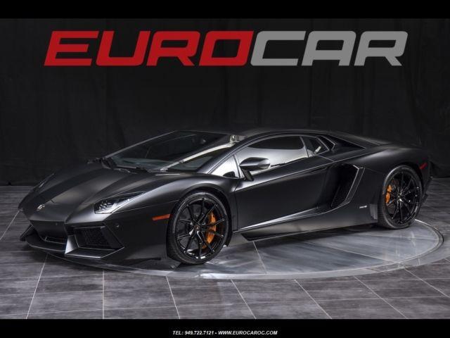 Lamborghini Aventador Lp 700 4 Satin Black Factory Warranty