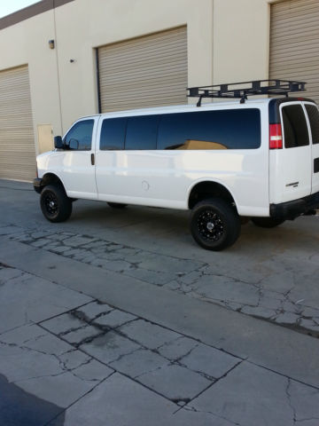 Lifted 15 Pass 3500 1 Ton Van 60 One Of A Kind Cargo Truck