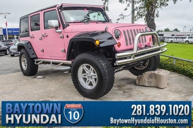 Used Pink Jeep Wrangler >> LIFTED 2012 Jeep Wrangler Unlimited Sport PINK Kevlar Paint. 4x4