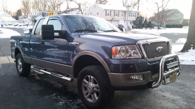 Loaded Leveled Blue And Tan 2004 Ford F150 Lariat