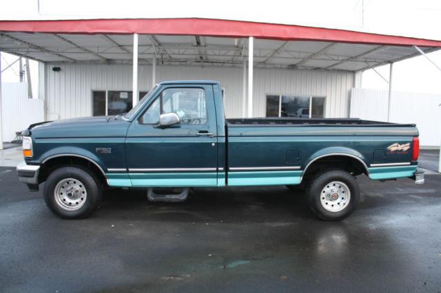 LOOK!Green 94 ford f150 xlt 5.8 L. 4x4 2 door single cab ...
