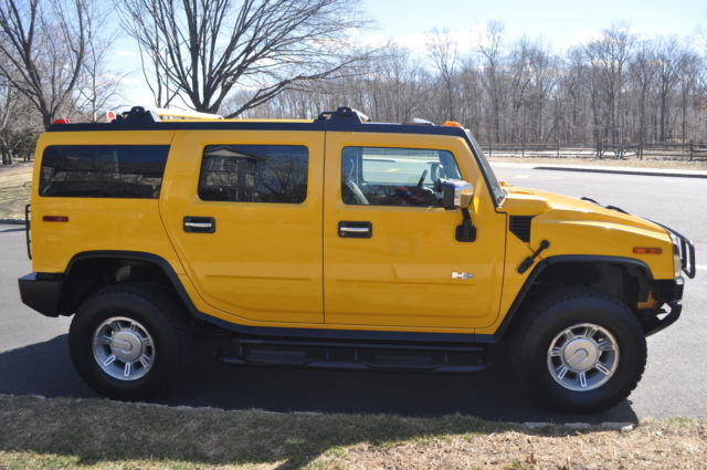 Low Mileage Yellow Hummer H2 Deluxe Sport 4X4 Vehicle