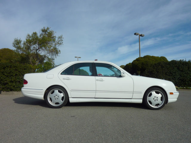 Mercedes benz e55 amg v8 w210 ca original paint maintained for Mercedes benz white paint