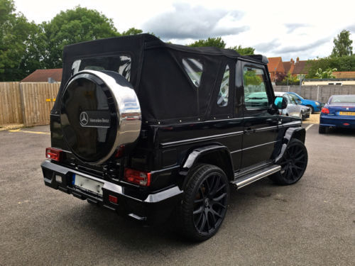 mercedes benz g class g63 brabus amg convertible only one in the uk g350 wagon. Black Bedroom Furniture Sets. Home Design Ideas