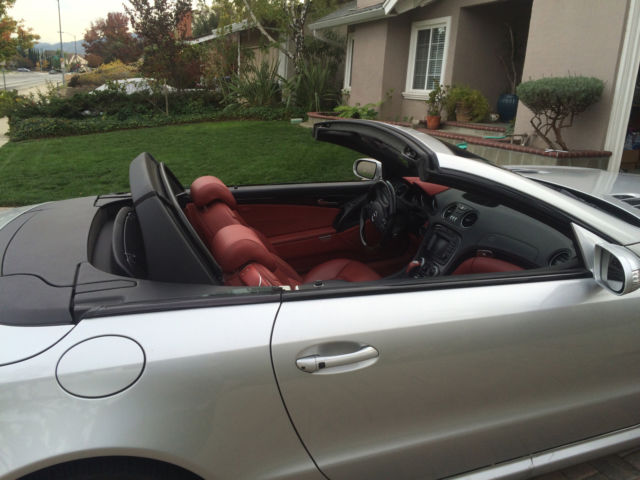 Mercedes Benz Sl55 Amg Like New Silver With Red Interior
