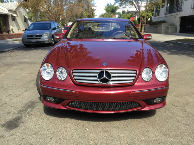 mercedes cl cl55 amg rare bordeaux red color mint condition only 49k miles. Black Bedroom Furniture Sets. Home Design Ideas