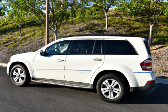 Mercedes gl 450 suv 2009 4wd white fully loaded for 2009 mercedes benz suv