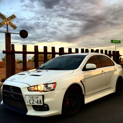 mitsubishi lancer evolution x mr wicked white full bolt ons and tune
