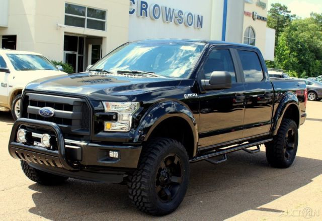 new 2015 f 150 4x4 super crew cab 4 door 6 lifted black custom truck. Black Bedroom Furniture Sets. Home Design Ideas