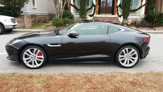 new 2015 jaguar f type r coupe 2 door 300 miles panoramic roof 20 inch rims. Black Bedroom Furniture Sets. Home Design Ideas