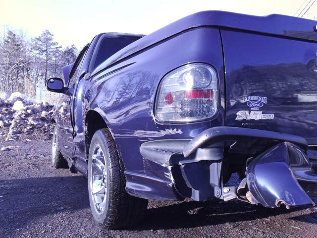 Ford Svt Lightning >> NO RESERVE 2002 FORD F150 SVT SUPERCHARGED LIGHTNING WRECKED REBUILDABLE SALVAGE