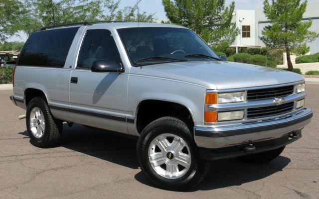 No Reserve 95 Chevy Tahoe 2 Door 4x4 One Arizona Owner