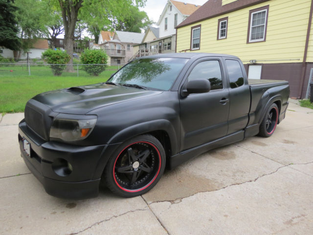 one of a kind custom satin black supercharged 2005 toyota tacoma x runner. Black Bedroom Furniture Sets. Home Design Ideas
