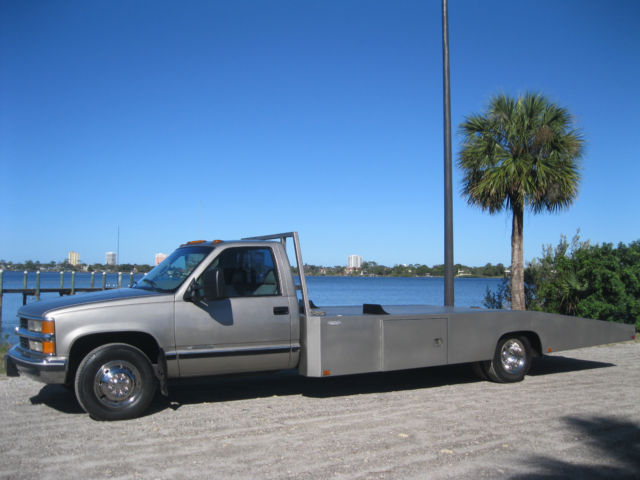 ONE TON CHEVY DUALLY HODGES BODY CAR HAULER FLATBED RAMP ...