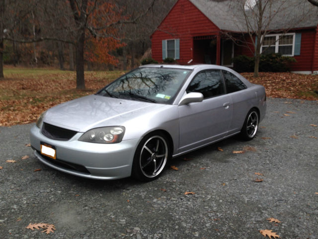 silver 03 honda civic ex coupe runs great lots of mods rust free. Black Bedroom Furniture Sets. Home Design Ideas