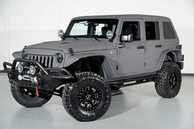 Matte Grey Jeep Wrangler >> Starwood Custom Jeep Wrangler Black Gray Lift Wheels Tires