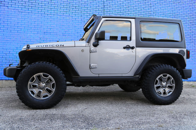 the silver beast 2014 jeep wrangler rubicon sport utility 2 door 35 tires 285hp. Black Bedroom Furniture Sets. Home Design Ideas