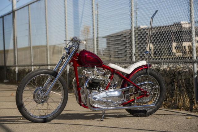 triumph pre unit show bike chopper bobber
