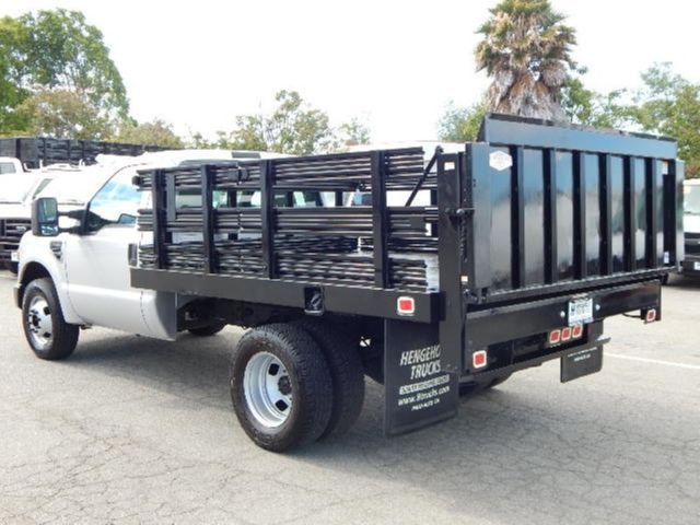Used 2008 Ford F350 9' Flatbed Stake Truck 5.4L Gas ...