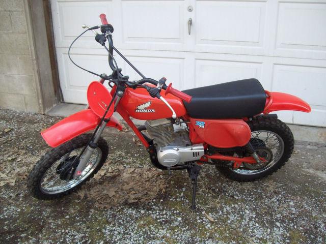 vintage 1978 honda xr75 motorcycle mini bike dirt bike. Black Bedroom Furniture Sets. Home Design Ideas