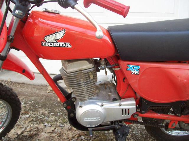 VINTAGE 1978 HONDA XR75 MOTORCYCLE MINI BIKE DIRT BIKE