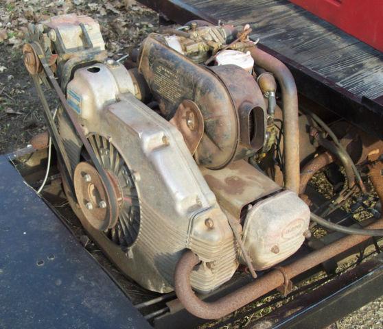 Vintage Cushman Truckster Three Wheel Go Cart Scooter With Engine on Cushman Truckster Omc Engine