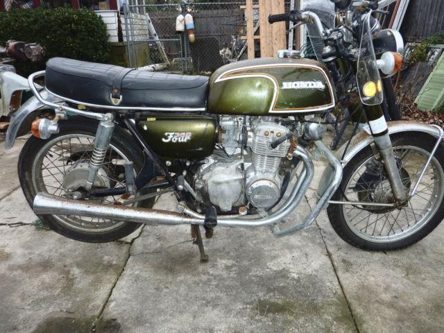 Vintage Honda CB 350 inline 4 cylinder Motorcycle