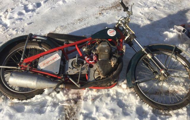 Vintage Jawa 893 Ice Speedway Rare Yuri Ivanov Bike 2 Valve