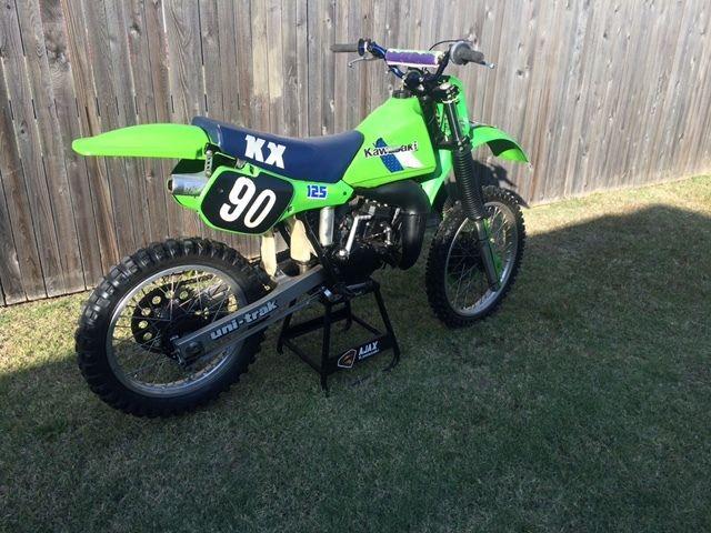 vintage kawasaki kx 125 motorcycle dirt bike. Black Bedroom Furniture Sets. Home Design Ideas