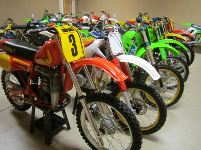 VINTAGE MOTOCROSS DIRT BIKE MOTORCYCLE MAICO 490 KAWASAKI