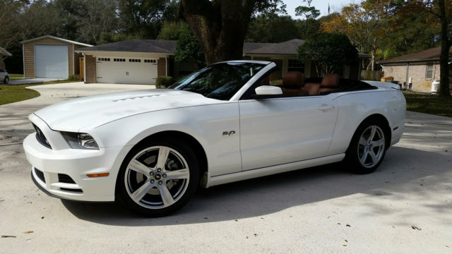 White 2017 Mustang Gt Premium Convertible A T W Rare Saddle Leather Excellent