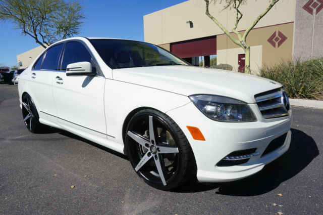 White c class 2 owner clean carfax like 2008 2009 2010 for 2012 mercedes benz c300 tire size