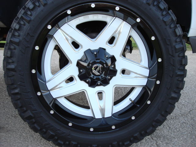 Used Chevy Tahoe >> white, Chevy Tahoe, Lifted , 22inch fuel off road wheels, custom lift,