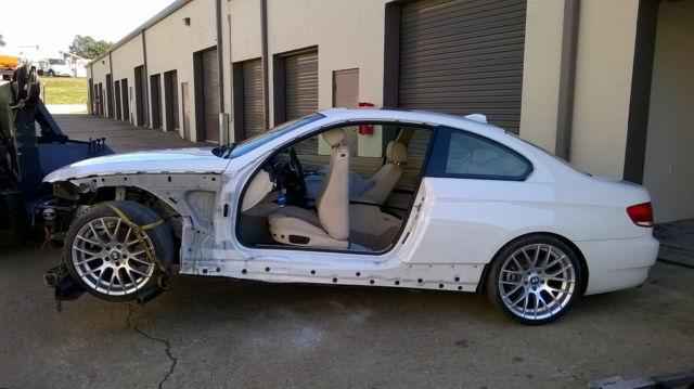 Wrecked 40k 2010 Bmw 328i Coupe E92 M3 Replica Wheels Starts Runs