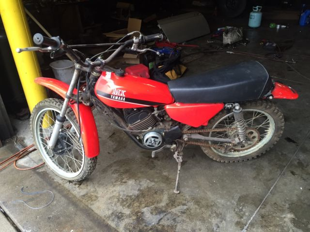 Yamaha MX100 Vintage Barn Find 100cc Motorcycle Dirt Bike ...