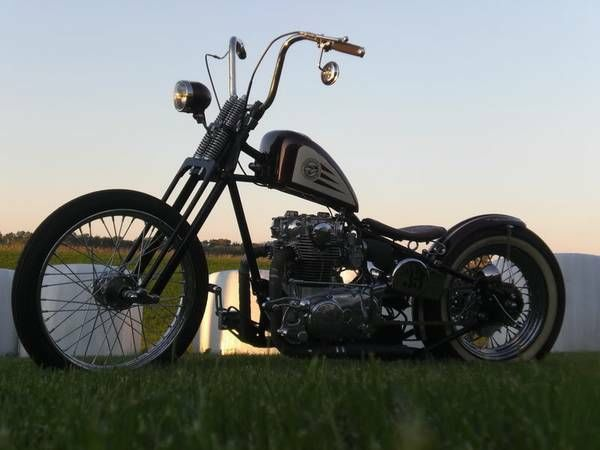 Yamaha Xs650 Xs750 Chopper Bobber Custom Rat Bike